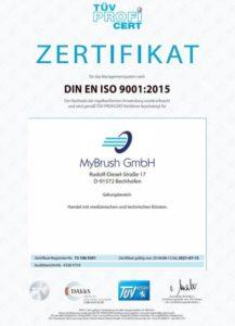 TÜV Zertifikat DIN EN ISO 9001:2015